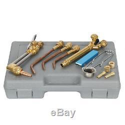 Gas Welding Cutting Welder Kit Oxy Acetylene Oxygen Torch w Tip Cleaner & Case