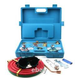 Gas Welding Cutting Welder Kit Oxy Acetylene Oxygen Torch with 15'Hose + Case