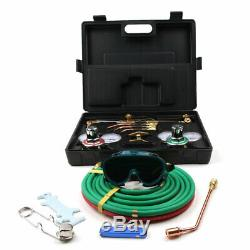 Gas Welding Cutting Welder Kit Oxy Acetylene Oxygen Torch with Hose Black Case