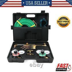Gas Welding Cutting Welder Kit Professional Oxy Acetylene Oxygen Torch withHose