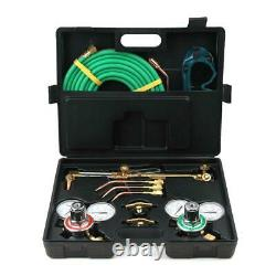 Gas Welding and Cutting Kit Acetylene Oxygen Torch Set Regulator with Case