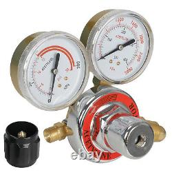 Gas Welding and Cutting Kit Acetylene Oxygen Torch Set Regulator withCase