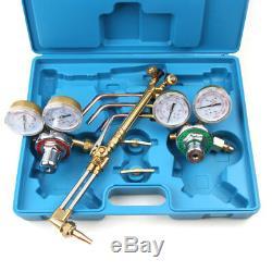 Gas Welding and Cutting Kit Acetylene Oxygen Torch Set Welder Regulator 7 kg