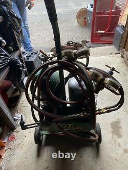 Gas Welding and Cutting set smith full Acetylene Oxygen Torch Set Regulator Cart