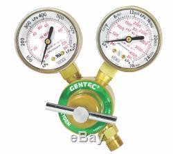 Gentec Oxygen & Acetylene Regulator Set Welding Gauges For Torch Compressed Gas