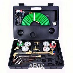 Goplus Gas Welding Cutting Torch Kit, Portable Oxy Acetylene Oxygen Brazing