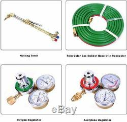 Goplus Gas Welding Cutting Torch Kit, Portable Oxy Acetylene Oxygen Brazing, Pro