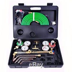 Goplus Gas Welding Cutting Torch Kit Portable Oxy Acetylene Oxygen Brazing Tool