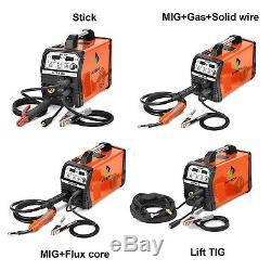HITBOX 220V Inverter MIG ARC Lift TIG Gas Gasless Welding Machine with TIG Torch