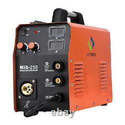 HITBOX MIG250 MIG Welder 220V 200A ARC Lift TIG MIG Welding Machine with TIG Torch