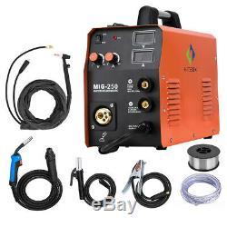 HITBOX MIG250 Welder IGBT MIG Welder Lift TIG ARC MIG Welding Machine +TIG TORCH