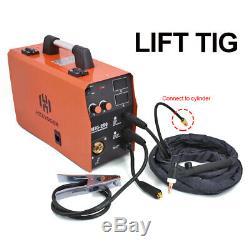 HITBOX MMA Lift TIG MIG Welding Machine Gas Gasless MIG250 Welder TIG Torch US