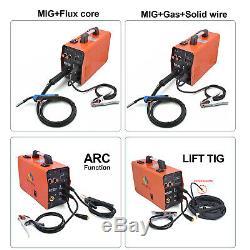 HITBOX MMA Lift TIG MIG Welding Machine Gas Gasless MIG250 Welder With TIG Torch