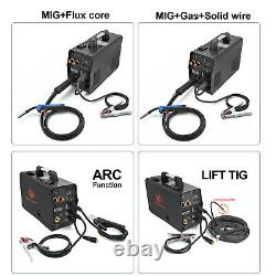 HZXVOGEN 4IN 1 MIG Welder 220V 200A ARC Lift TIG Torch MIG Welding Machine Flux