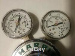 Harris 25-100 oxygen 25-15 acetylene gas regulators Victor torch compatible