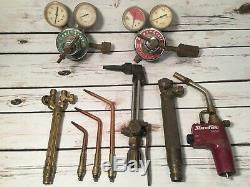 Harris Torch 73 63-2 Welding Cutting Heating Gas Torch Set Powr-Kraft Regulators