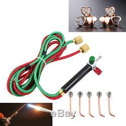 Jewelry Jewelers Micro Mini Gas Little Torch Welding Soldering kit 5 tips