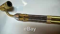 MAPP gas torch brazing, soldering torch with 3 swivel tips, nozzles. For 14.1-16 oz