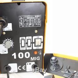 MIG 100 110V 90AMP Flux Wire WELDING MACHINE NO GAS WELDER withAuto Feeding, Torch
