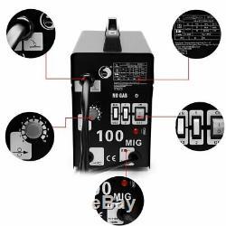 MIG 100 Flux Wire WELDING MACHINE110V AMP NO GAS WELDER Auto Feeding Torch US