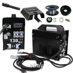 MIG 130 Welder Gas Flux Torch Wire Automatic Feed Welding Machine with Free Mask