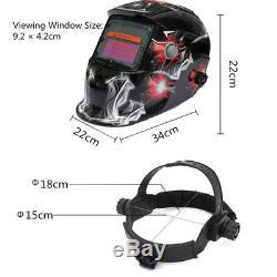 MIG 130 Welder Gas Less Flux Automatic Feed Welding Machine Helmet 2 Tips Torch