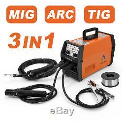 MIG Welder 220V Gas/Gasless Inverter MIG/Stick/Lift TIG Welding 120A +Tig Torch
