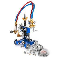 Manual Pipe Gas Cutting Beveling Machine Torch Track Chain Cutter Beveler