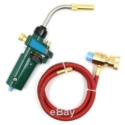 Mapp Gas Brazing Torch Self Ignition Trigger 1.5M Hose Propane Welding Heat I3H5