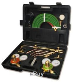 New Gas Welding Cutting Kit Oxy Acetylene Oxygen Torch Brazing Fits VICTOR