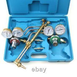 New Gas Welding Cutting Kit Oxygen Blue Torch Acetylene Welder Tool with 15' Hose