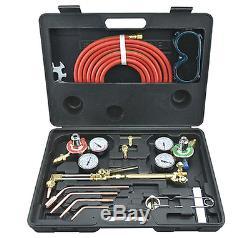 New Gas Welding Cutting Kit Portable Acetylene Oxygen Torch Set Welder Regulator