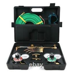 New Practical Gas Welding Cutting Welder Kit Oxy Acetylene Oxygen Torch + Hose