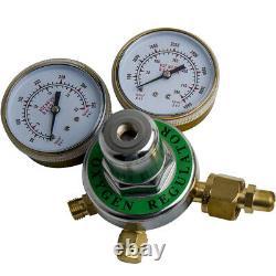 OXYGEN & ACETYLEN Gas Welding Regulator Fit Victor Torch Cutting Solid Brass Set