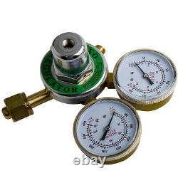 OXYGEN ACETYLENE Gas Welding Regulators Solid Brass Fit Victor Torch Cutting Kit