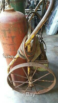 Oxy. Acet Tank Victor Gas Weld Cut Torch Regs Hose & Hitch Cart. Local pickup