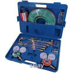 Oxy Acetylene Gas Welding Cutting Kit Set Oxygen Regulator Torch Set