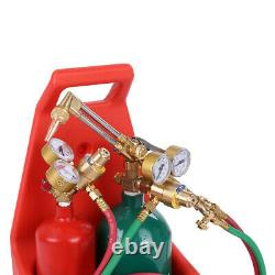 Oxy Gas Cutting And Welding Kit Oxygen Torch Acetylene Welder Tool Set Withgoggles