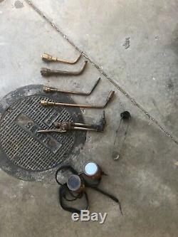 Oxy Oxygen Acetylene Gas welding torches, bottles, cart, gas saver