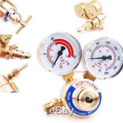 Oxygen / Acetylene Gas 2 CGA 510 Regulator Pressure Gauge For Victor Torch Weld