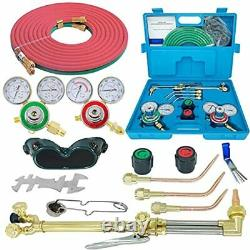 Oxygen & Acetylene Gas Cutting Torch and Welding Kit Portable Oxy Brazing