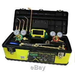 Oxygen Acetylene Victor Type Gas Welding Cutting Welding Torch Carrying Toolbox