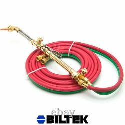 Oxygen & Acetylene Welding Cutting Outfit Torch Set Gas Welder Kit with 15ft Hoses