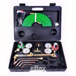 PRO BRASS VICTOR Type Gas Welding & Cutting Kit Oxygen Oxy Acetylene Torch