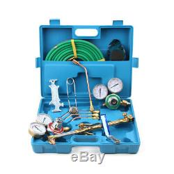 Portable Gas Welding & Cutting Kit Acetylene Oxygen Torch Set Welder Tool Case