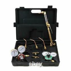 Portable Gas Welding & Cutting Kit Oxygen Torch Acetylene Welder Tool with Case