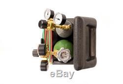 Portable Torch Kit Lincoln Gas Acetylene Oxygen Soldering Welding Tank Tool