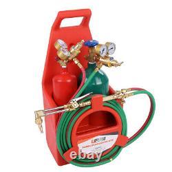 Portable Twin Tote Oxygen Acetylene DOT Tank Oxy gas Welding Cutting-Weld Torch