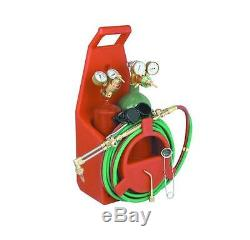 Portable Victor Style Brass Torch Cut Weld Kit with Oxy and Acetylene Gas Tanks