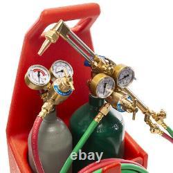 Portable oxyacetylene oxygen welding torch gas tank kit Professional EditionJUU